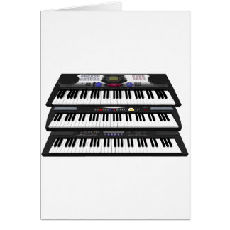 Three Modern Keyboards: Synthesizers: Card