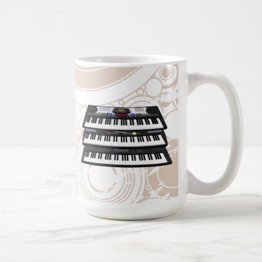 Three Modern Keyboards: Synthesizers: Coffee Mug