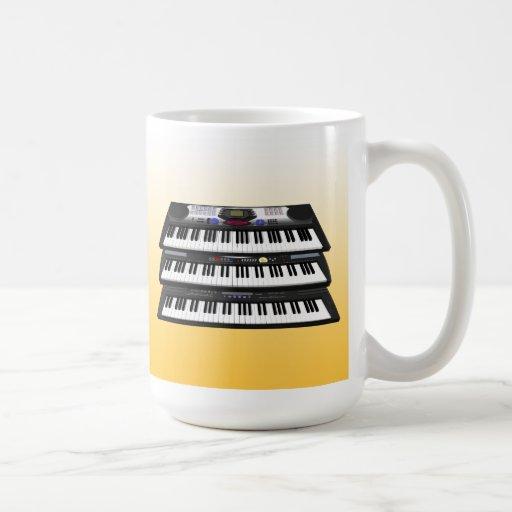 Three Modern Keyboards Synthesizers Coffee Mug Zazzle
