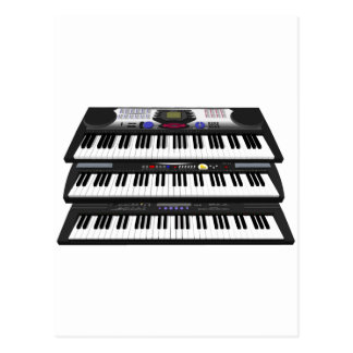 Three Modern Keyboards: Synthesizers: Postcard