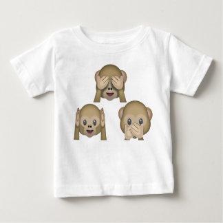 Three Monkey Emoji Baby Tshirt. Baby T-Shirt