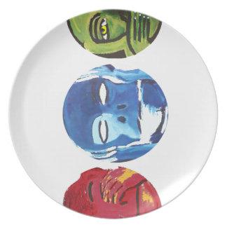Three monkeys plate