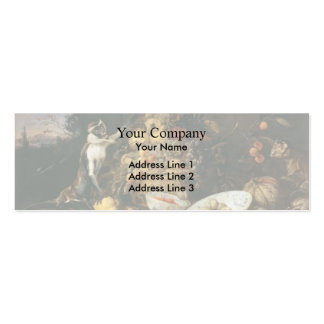 Three Monkeys Stealing Fruit  by Frans Snyders Business Cards