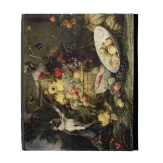 Three Monkeys Stealing Fruit (oil on canvas) iPad Case