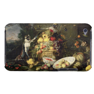 Three Monkeys Stealing Fruit (oil on canvas) iPod Touch Cover