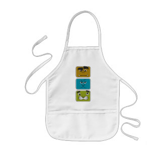 Three Monster Faces Kids' Apron