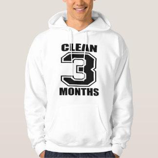 Three Months CLEAN! Hoodie