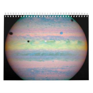 Three Moons Cast Shadows on Jupiter Calendar