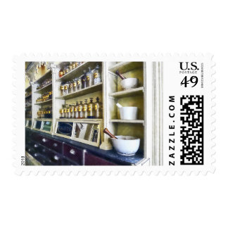 Three Mortar and Pestles in Pharmacy Postage