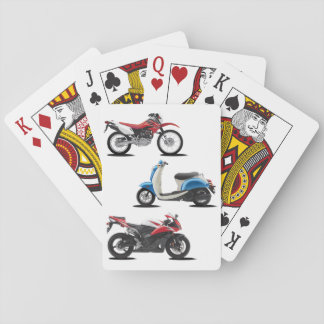 Three Motorcycles Playing Cards