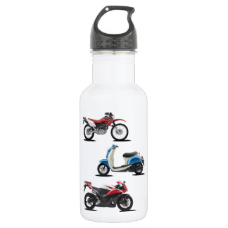 Three Motorcycles Water Bottle