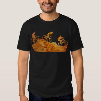 Three Mountain Bikers on a Hill Tshirt