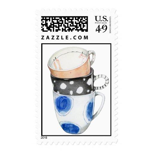 Three Mugs Stamp