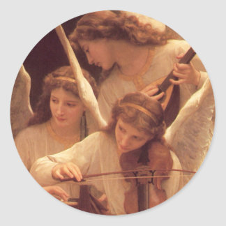 Three Musical Angels Christmas Sticker