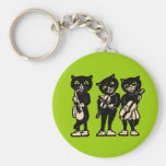 Three Musical Cats Keychain