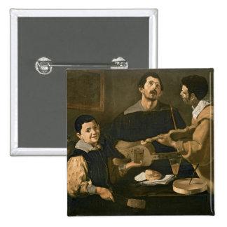 Three Musicians, 1618 Pinback Buttons