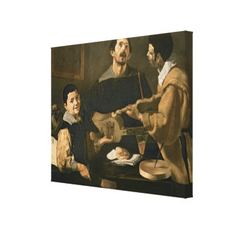 Three Musicians, 1618 Canvas Print