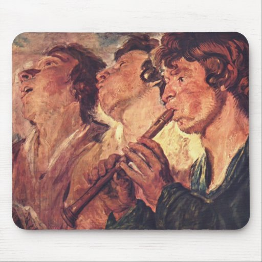Three Musicians by Jacob Jordaens Mouse Pad