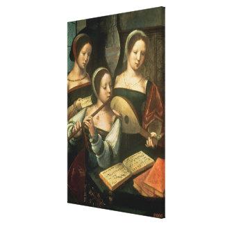 Three Musicians Canvas Print