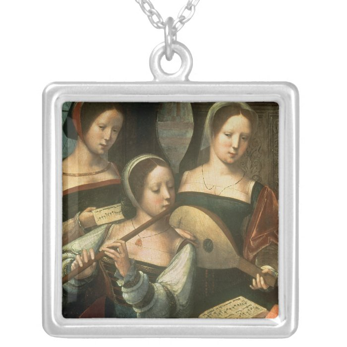 Three Musicians Silver Plated Necklace
