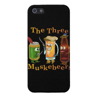 Three Muskebeers Funny Beer Pun Case For iPhone SE/5/5s