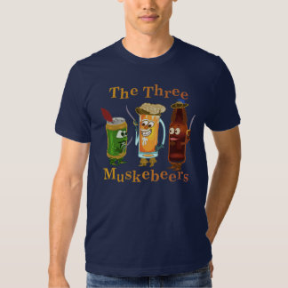 Three Muskebeers Funny Beer Pun Shirts