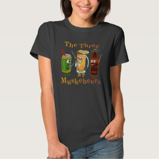 Three Muskebeers Funny Beer Pun T-shirts