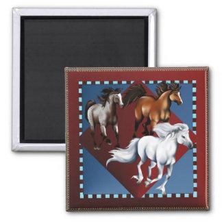 Three Mustangs Magnet