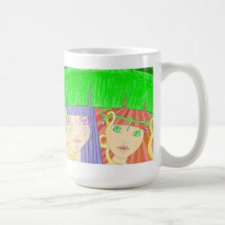Three Mythic Fairies Under Leaf Mug