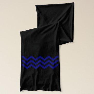 Aztec Themed Three Navy Zig Zags (Chevron or Aztec Pattern) Scarf