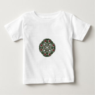 Three Nested Fractal Art Christmas Wreaths Baby T-Shirt