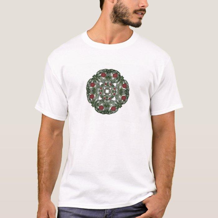 Three Nested Fractal Art Christmas Wreaths T-Shirt