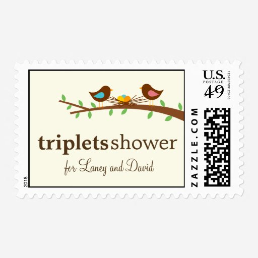 Custom Triplets Stamps Templates   Babyfavors4u