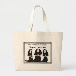 """Three Nuns Kneeling """"Hail Mary Full Of Grace"""" Bag"""