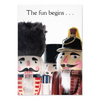 Three nutcrackers Christmas the fun begins Card