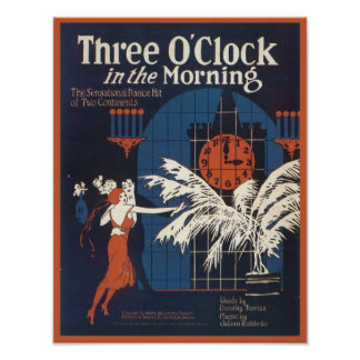 Three O Clock in the Morning Songbook Cover Posters