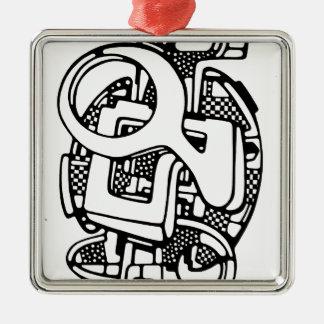 three O Metal Ornament