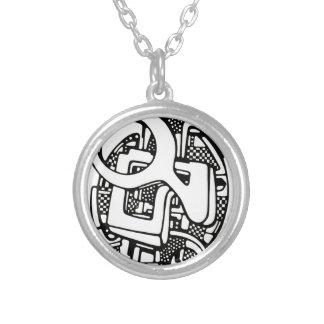 three O Round Pendant Necklace