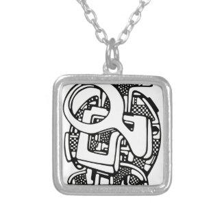 three O Square Pendant Necklace