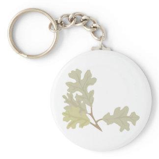 Three Oak Leaves Keychain