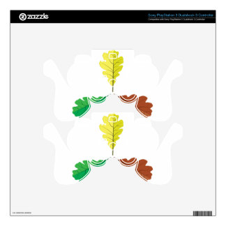 Three oak leaves skins for PS3 controllers
