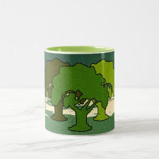 THREE OAK TREES Two-Tone COFFEE MUG