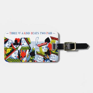 Three of a kind travel bag tags