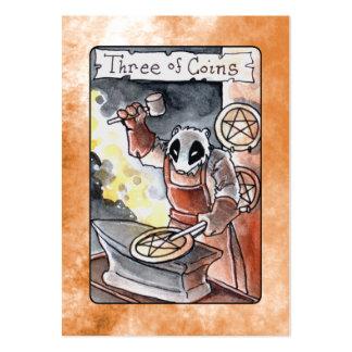 Three of Coins Tarot Business Card