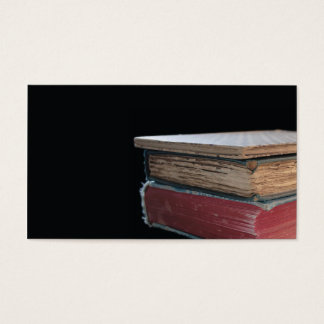three old books business card