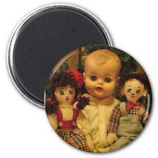 Three Old Dolls Magnet