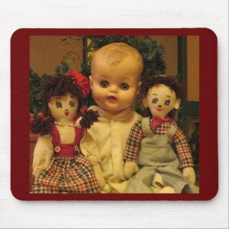 Three Old Dolls Mouse Pad