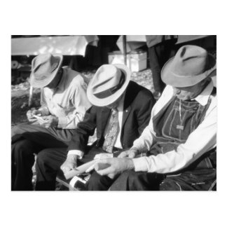 Three Old Men Postcard