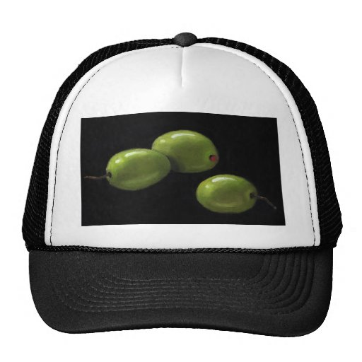 Three Olives in Oil Pastel Hat