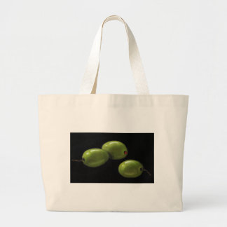 Three Olives in Oil Pastel Large Tote Bag
